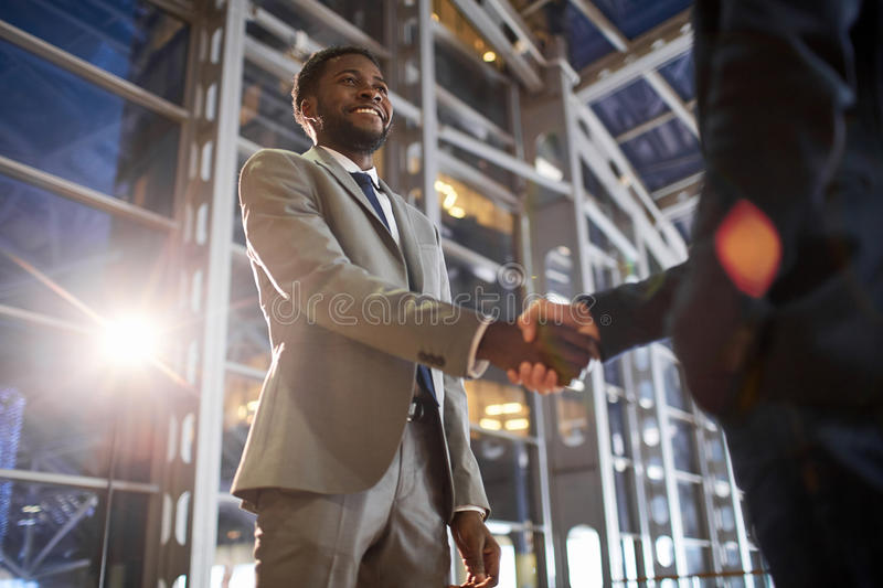 Handshake on Successful Deal stock image