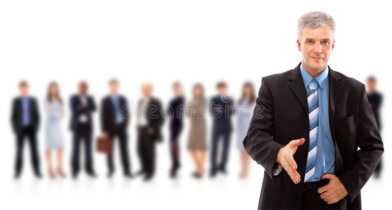 Handshake and team royalty free stock photos