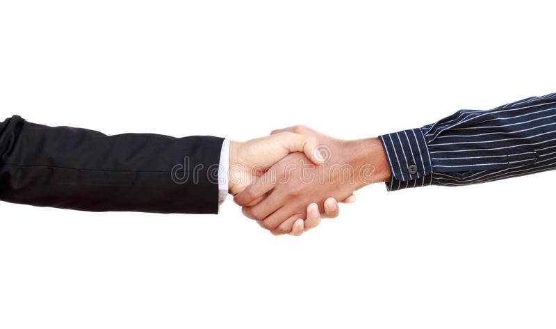 Handshake two business partners. royalty free stock images