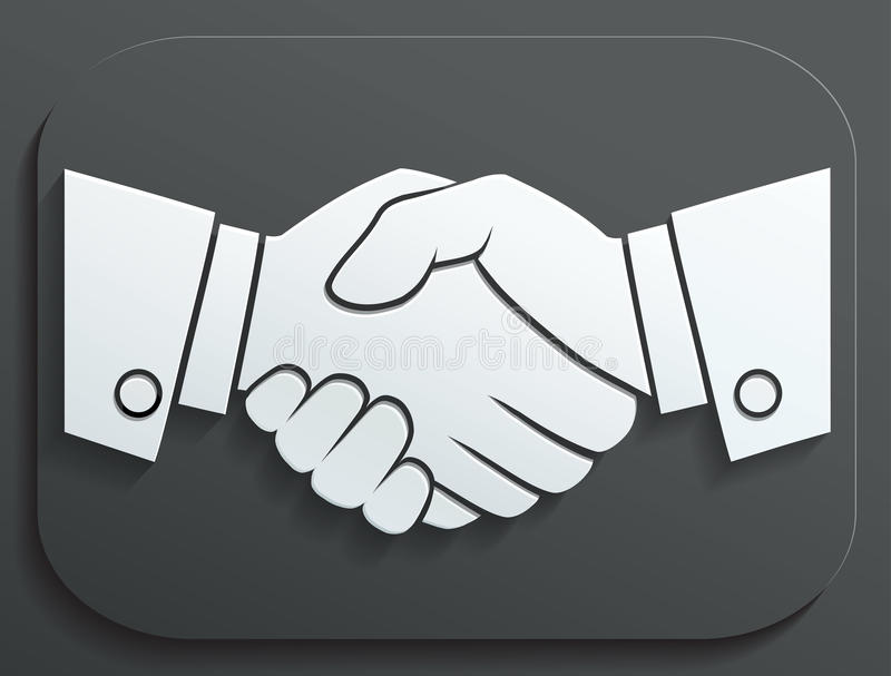 Handshake vector icon - business concept on white background. vector illustration
