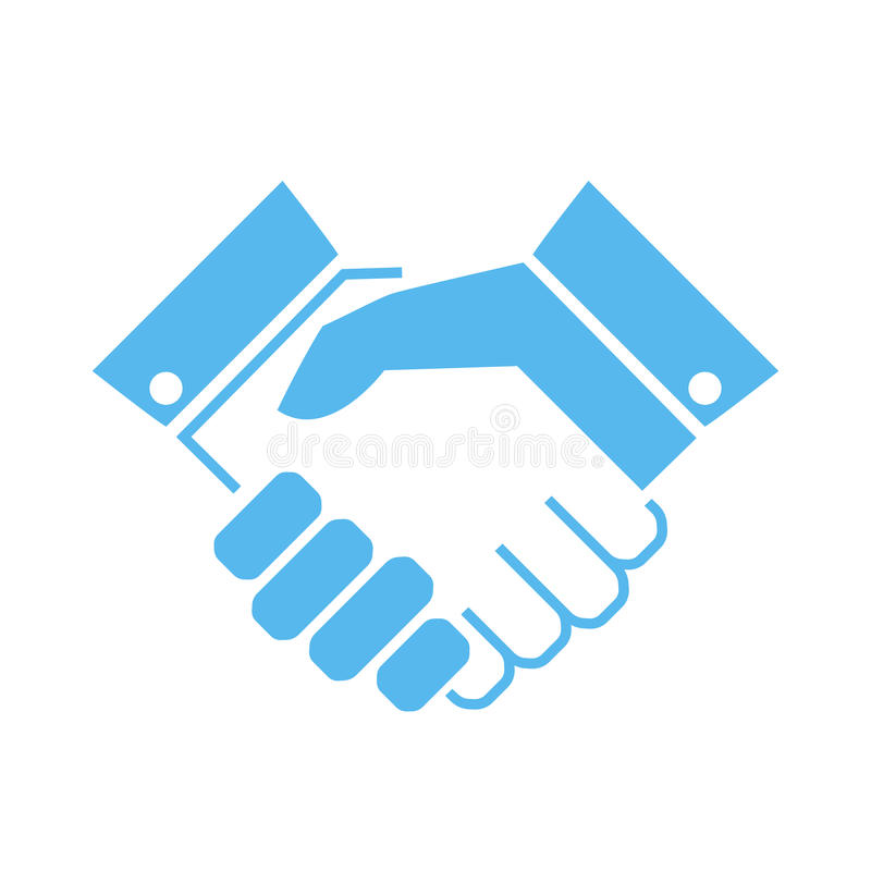 Handshake vector icon stock illustration
