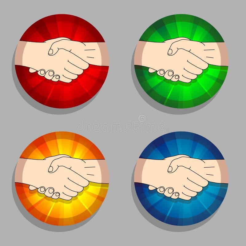 Download Handshakes stock vector. Image of health, encourage, rosette - 20282382