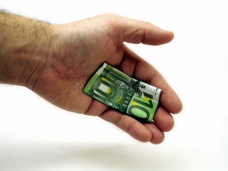 handshaking взяткой стоковое изображение