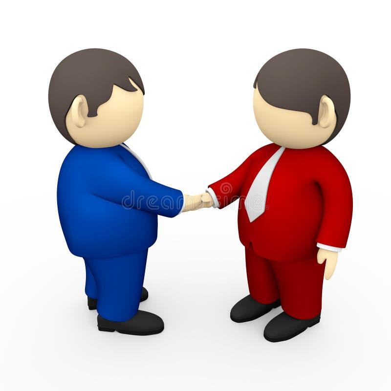 Handshaking degli uomini d'affari illustrazione di stock