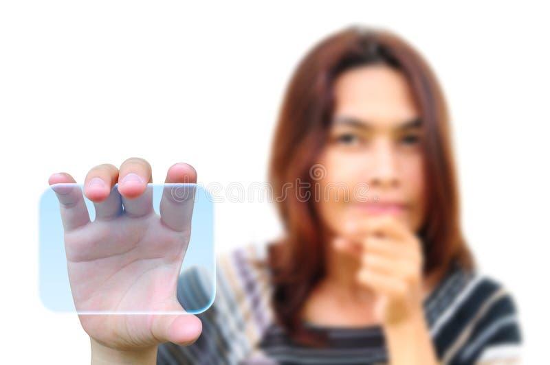 handskärmtouch arkivfoton