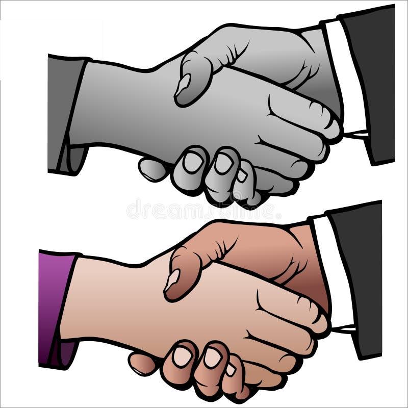 handskakning 04 stock illustrationer