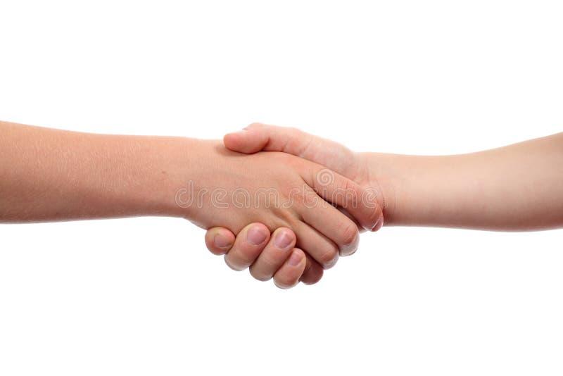handskakning arkivfoton