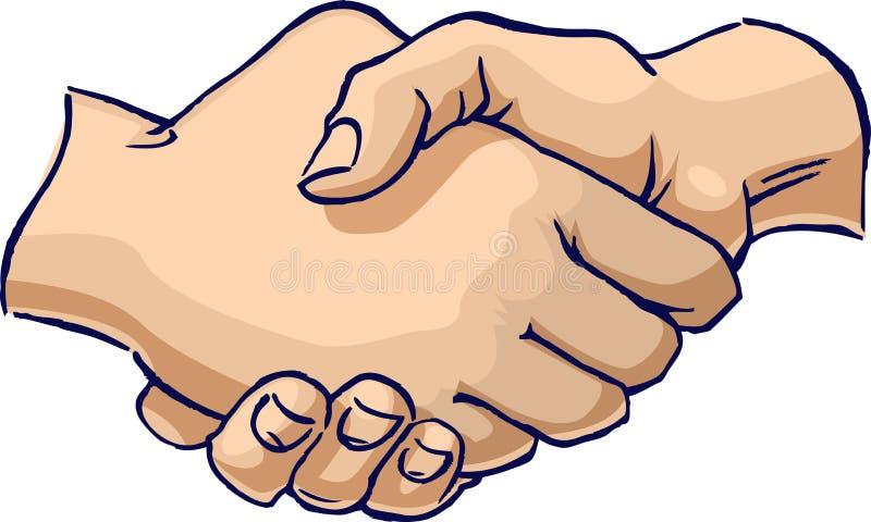 handskakning royaltyfri illustrationer