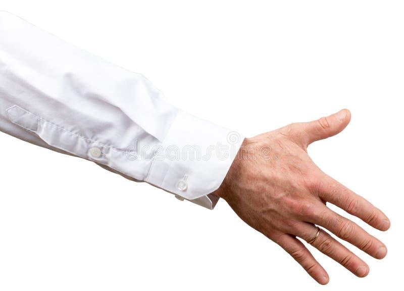 handskakning Affärsmaninnehavhand för att skaka arkivfoto