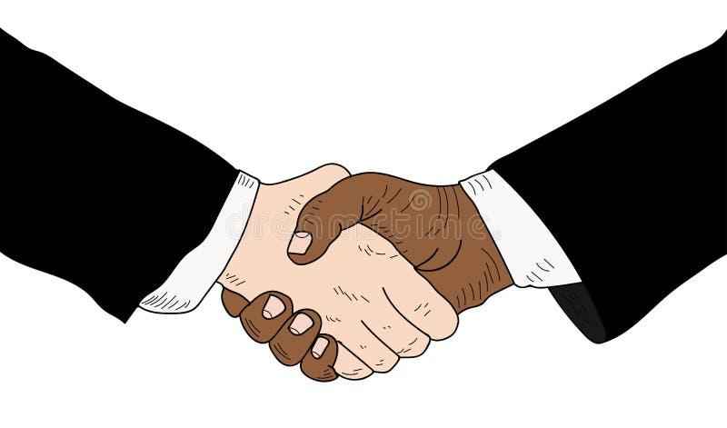 Handskakning av två personer royaltyfria foton