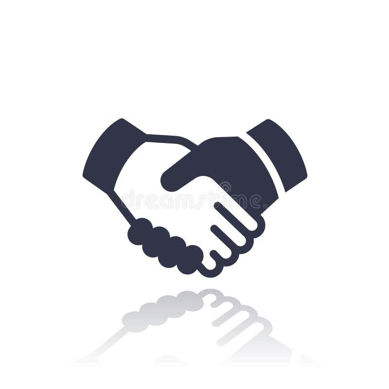 Handskakning avtal, partnerskapsymbol stock illustrationer