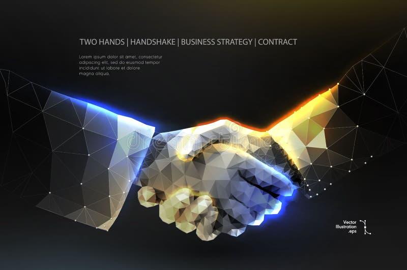 handskakning Blockchain vektor fotografering för bildbyråer