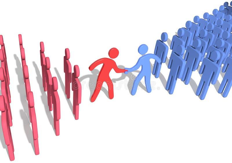Handskakning för överenskommelse för företagslagledare royaltyfri illustrationer