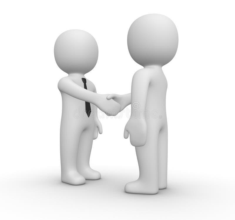 Handskakning mellan affärsman två stock illustrationer