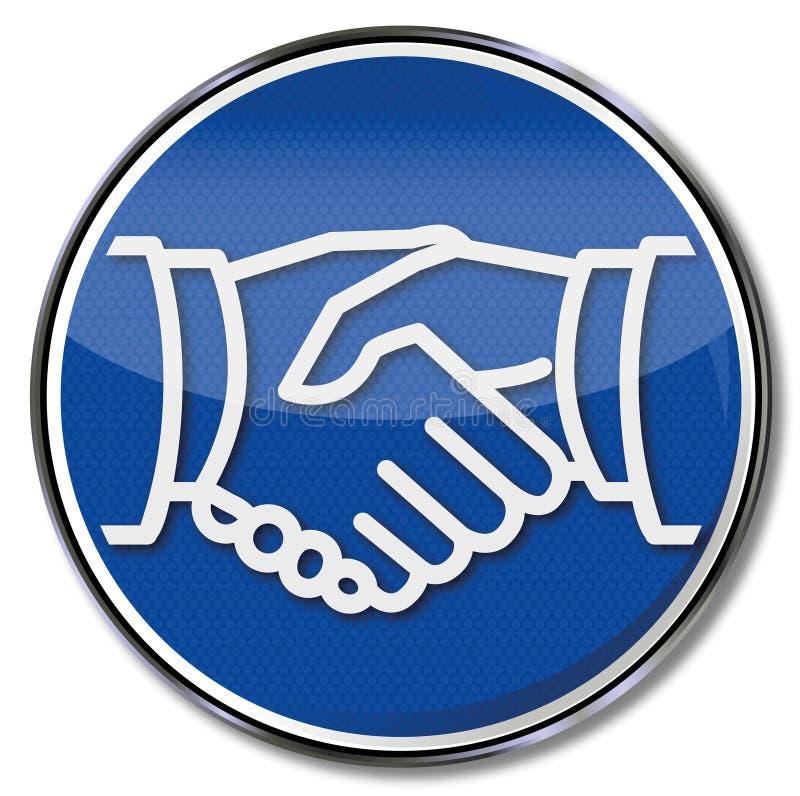 Handskakning och överenskommelse royaltyfri illustrationer