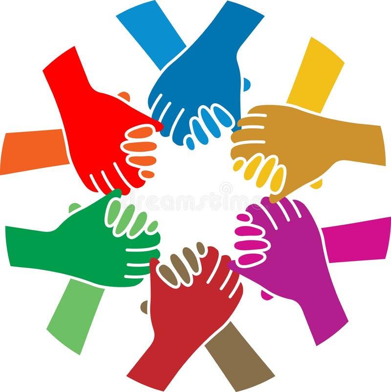 Handskakninglag royaltyfri illustrationer