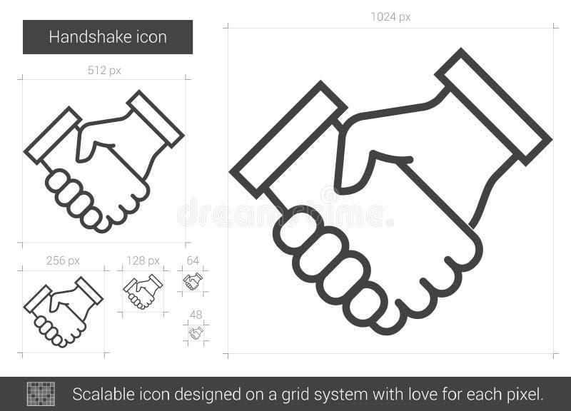 Handskakninglinje symbol stock illustrationer