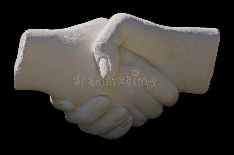 handskakningstatysten arkivfoton