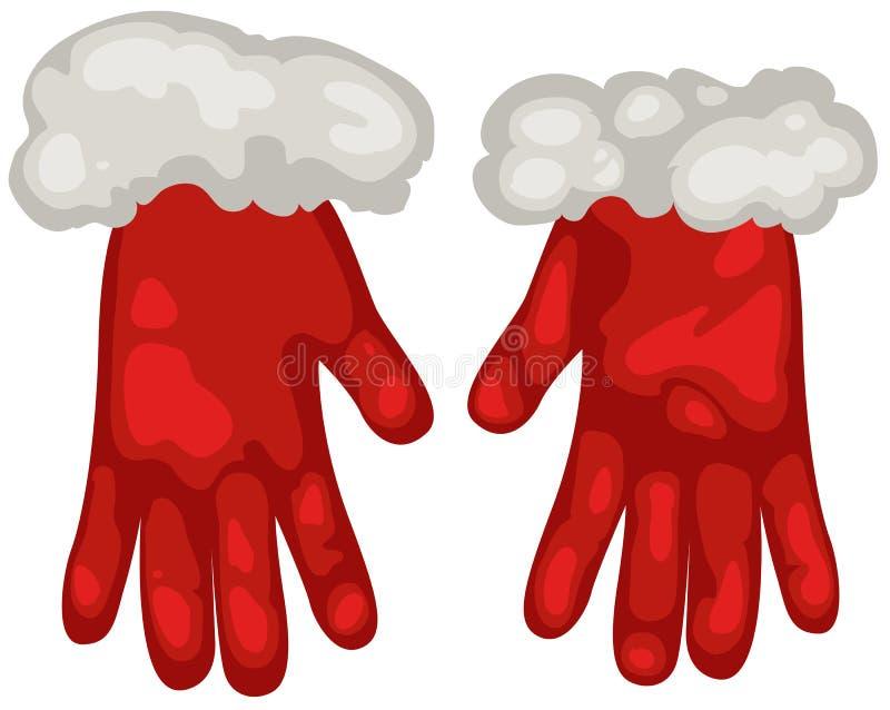 handskar santa vektor illustrationer