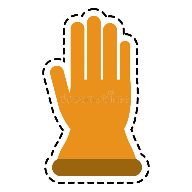 Handske av designen för industriell säkerhet vektor illustrationer