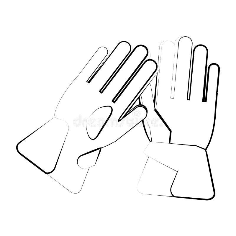 Handske av vintertorkdukedesignen stock illustrationer