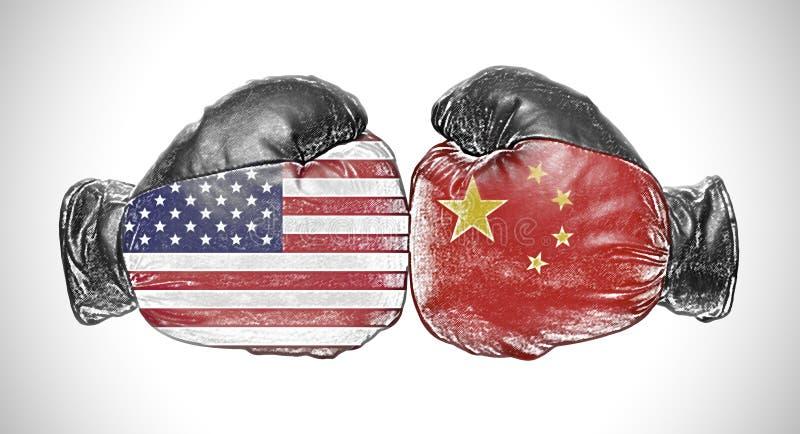 Handske för boxning två royaltyfri illustrationer