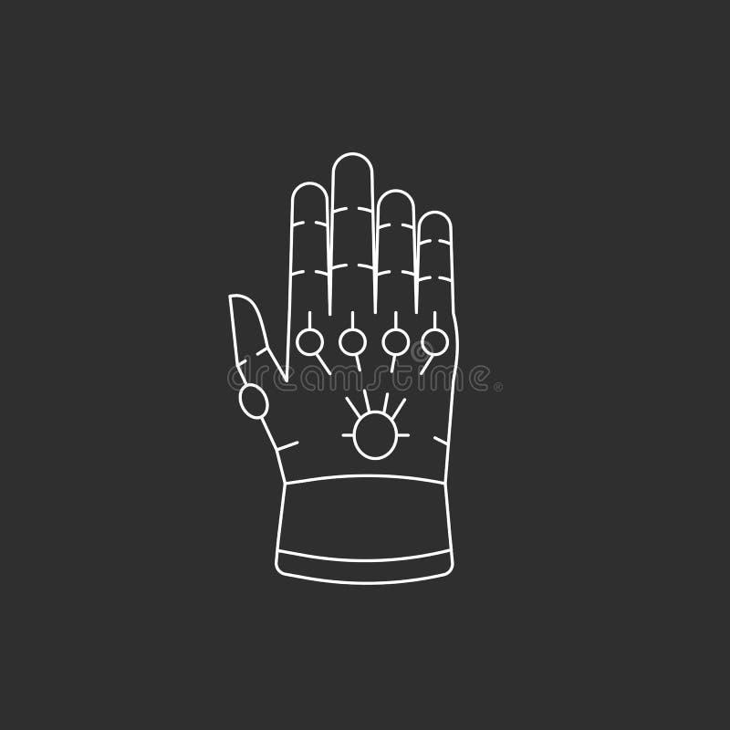 Handske med ädelstenar stock illustrationer