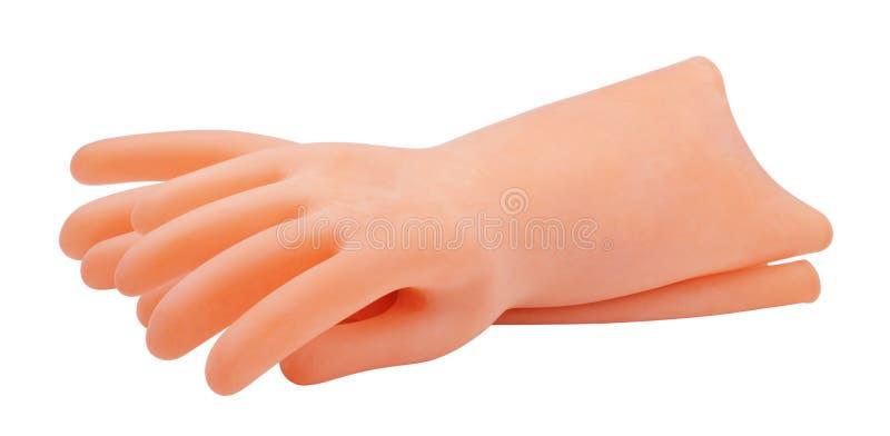 Handskedielectric som isoleras på vit arkivbild