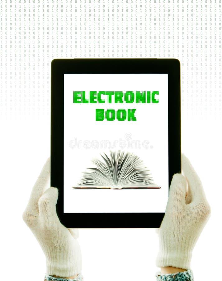 handskehänder som rymmer PCen, tablet slitage white arkivbilder