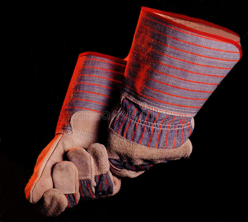 handskesäkerhet arkivbild
