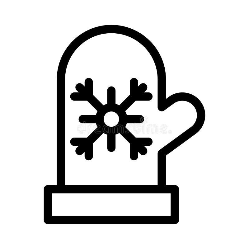 Handskesymbol royaltyfri illustrationer