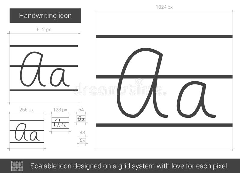 Handskriftlinje symbol stock illustrationer