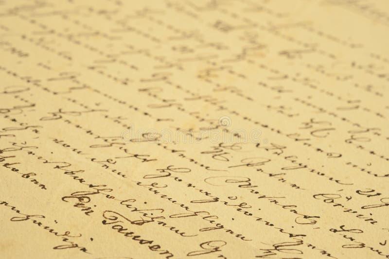 handskrifttappning royaltyfria foton