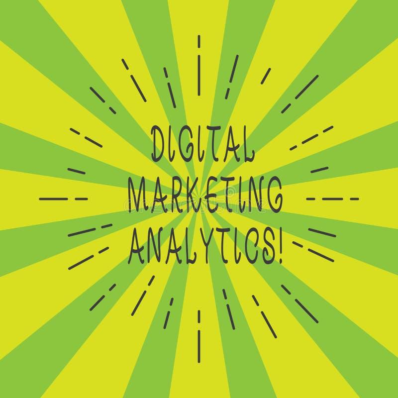 Handskrifttext Digital som marknadsför Analytics Metrik för affär för begreppsbetydelsemått som trafik och tunna strållinjer för  royaltyfri fotografi