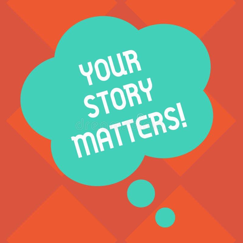 Handskrifttext dina berättelsefrågor Begreppsbetydelseaktien dina uttryckliga känslor för erfarenhetsdagboken förbigår skriftlige stock illustrationer