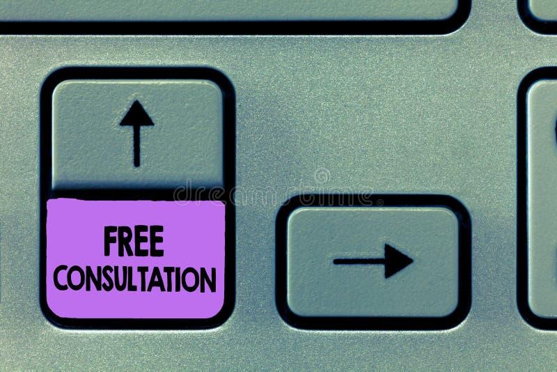 Handskrifttext frigör konsultation Begreppsbetydelse som ger medicinska och lagliga diskussioner utan lön arkivbilder