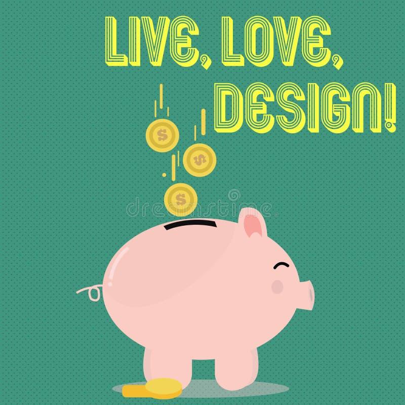 Handskrifttext Live Love Design Begreppsbetydelsen finns mjukhet skapar passionlust vektor illustrationer