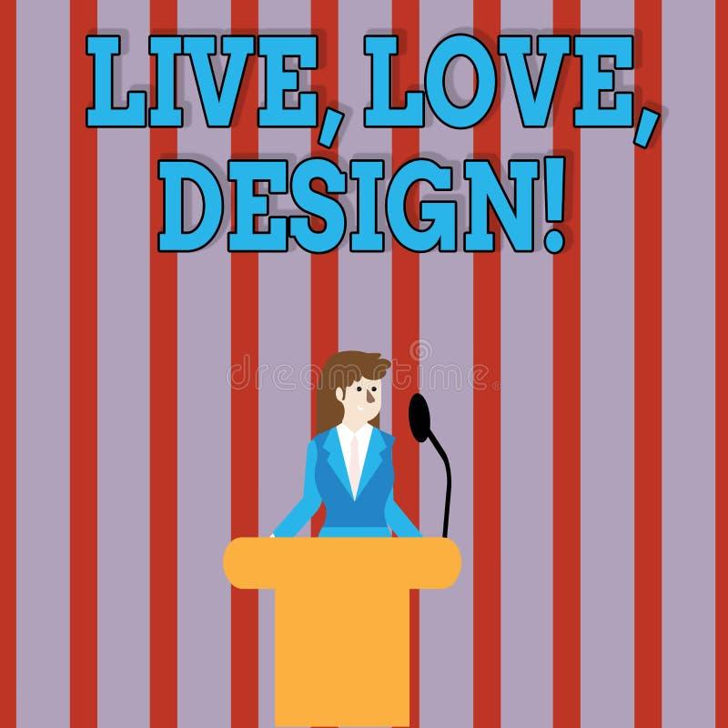 Handskrifttext Live Love Design Begreppsbetydelsen finns mjukhet skapar passionlust stock illustrationer
