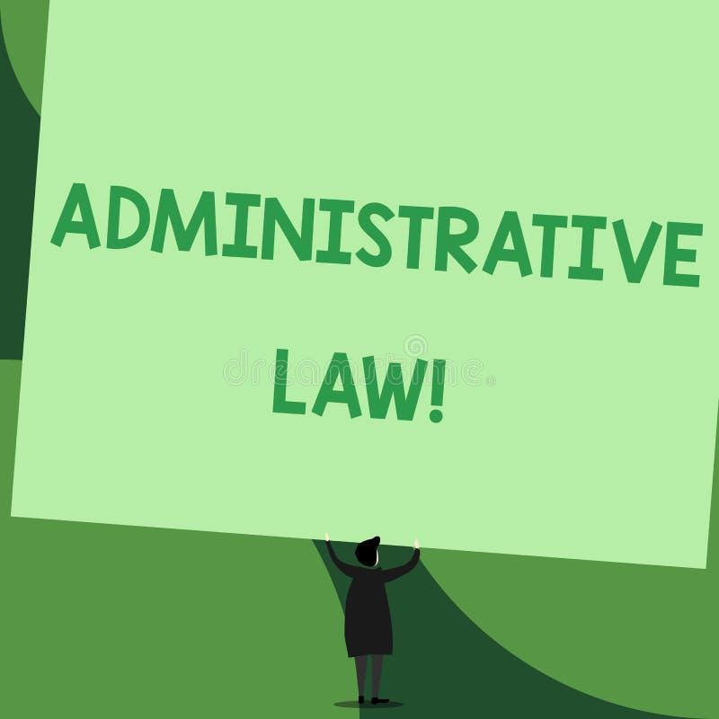 Handskrifttext som skriver administrativ lag Begreppsbetydelsekropp av regelreglementebest?llningar som skapas av en regering royaltyfri illustrationer