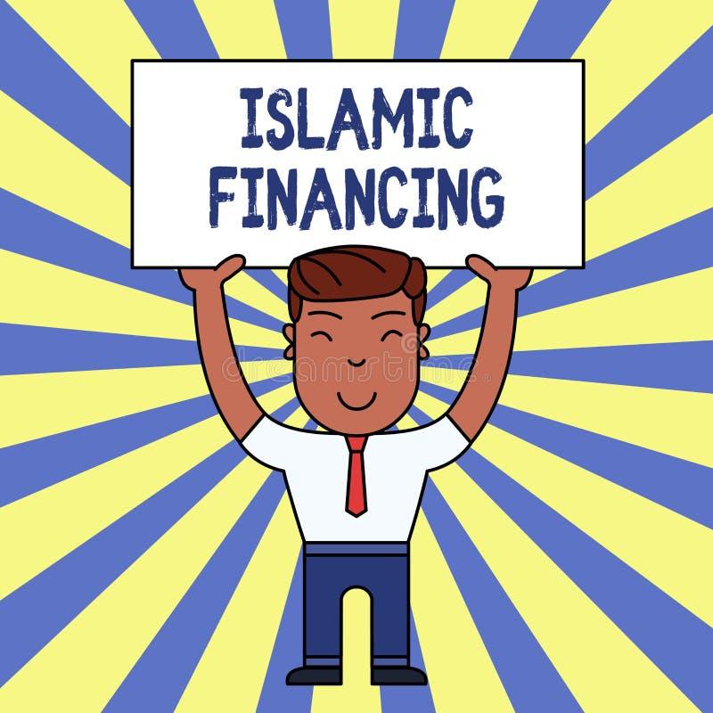 Handskrifttext som skriver islamisk finansiering Bankr?relseaktivitet och investering f?r begrepp menande som uppfyller med shari royaltyfri illustrationer