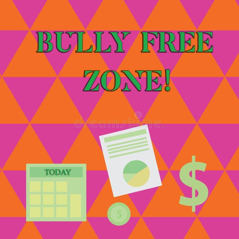 Handskrifttext som skriver jättebra fri zon Begreppsbetydelse som skapar dollaren för liv för högskola för fri skola för missbruk stock illustrationer