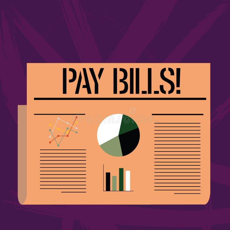 Handskrifttext som skriver lönräkningar Begreppsbetydelselista av kostnader som ska betalas sammanlagt belopp kostnader, eller fä royaltyfri illustrationer