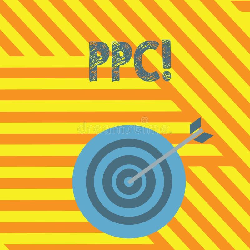 Handskrifttext som skriver Ppc Begrepp som betyder lön per klicken som annonserar direkt trafik för strategier till Websites royaltyfri illustrationer