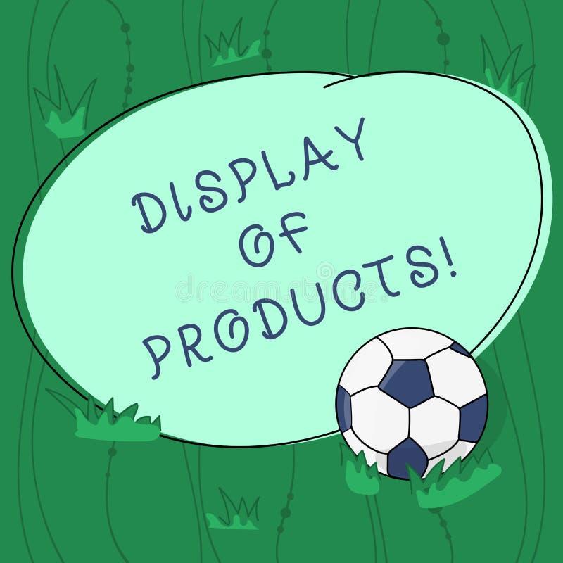 Handskrifttext som skriver skärm av produkter Begreppsbetydelseväg att tilldra och locka offentlig användande showfotboll för köp vektor illustrationer