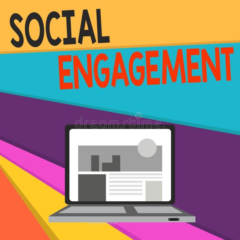 Handskrifttext som skriver social koppling Begreppsbetydelsegraden av kopplingen i en online-gemenskap eller samhälle öppnar royaltyfri illustrationer