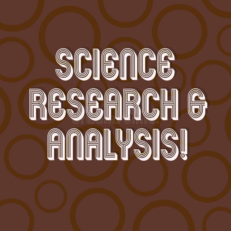 Handskrifttext som skriver vetenskapsforskning och analys Experiment för utredning för begreppsbetydelselaboratorium medicinskt stock illustrationer