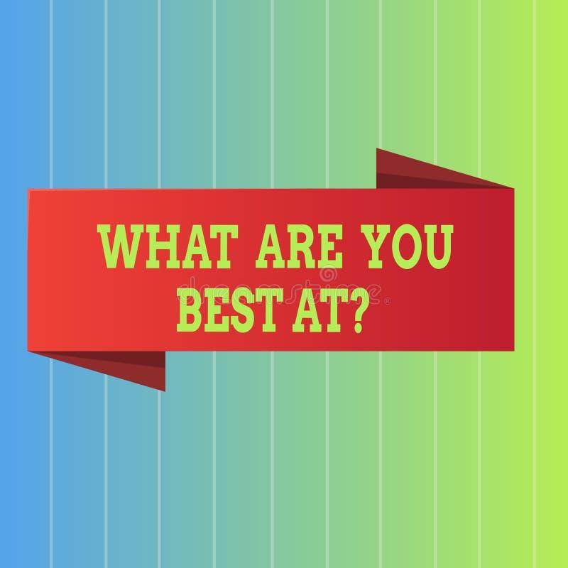 Handskrifttext vad är dig bästa Atquestion Är individuell kreativitet för begreppsbetydelse en unik kapacitet vektor illustrationer