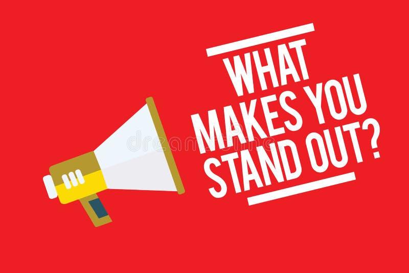 Handskrifttext vad gör dig att stå ut fråga Begreppsbetydelse som frågar någon om hans kvalitetsmegafonhögtalare rött b vektor illustrationer