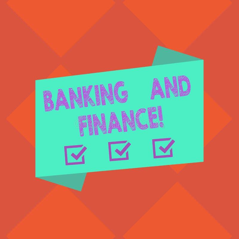 Handskrifttextbankrörelsen och finans Begrepp som betyder institutioner som ger variation av finansiell rådgivningmellanrumet stock illustrationer