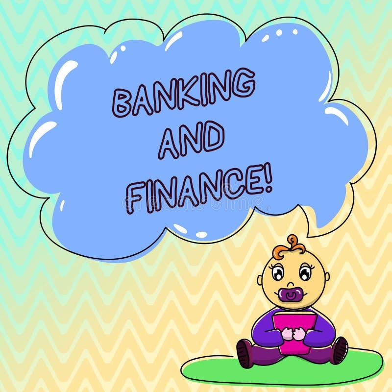 Handskrifttextbankrörelsen och finans Begreppet som betyder institutioner, som ger variation av finansiell rådgivning, behandla s vektor illustrationer